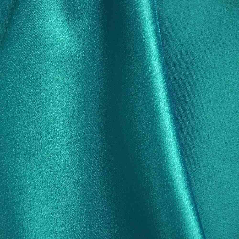 BACK CREPE / TEAL 952 / 100% Polyester Back Crepe Satin