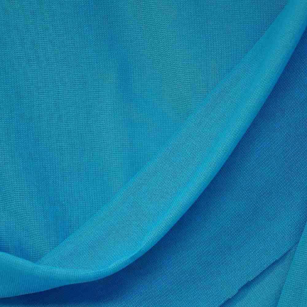 <h2>CMJ3000</h2> / AQUA 977                 / 100% Polyester Chiffon Matt Jersey