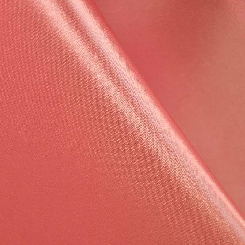 SATIN/POLY 3145 / CORAL 201 / 100% Polyester Bridal Satin