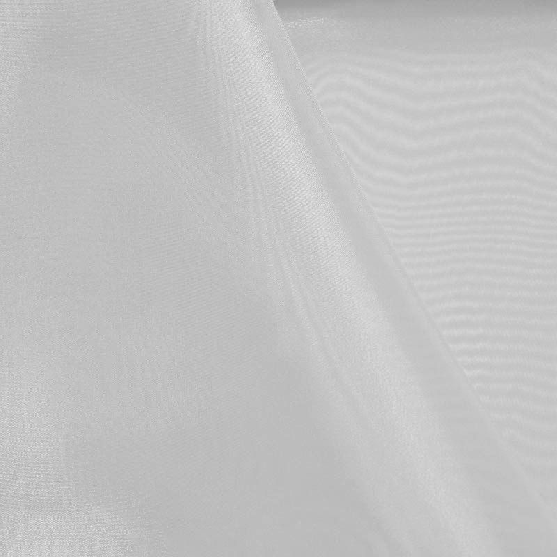 ORG2020 / WHITE / 100% Poly Organdy