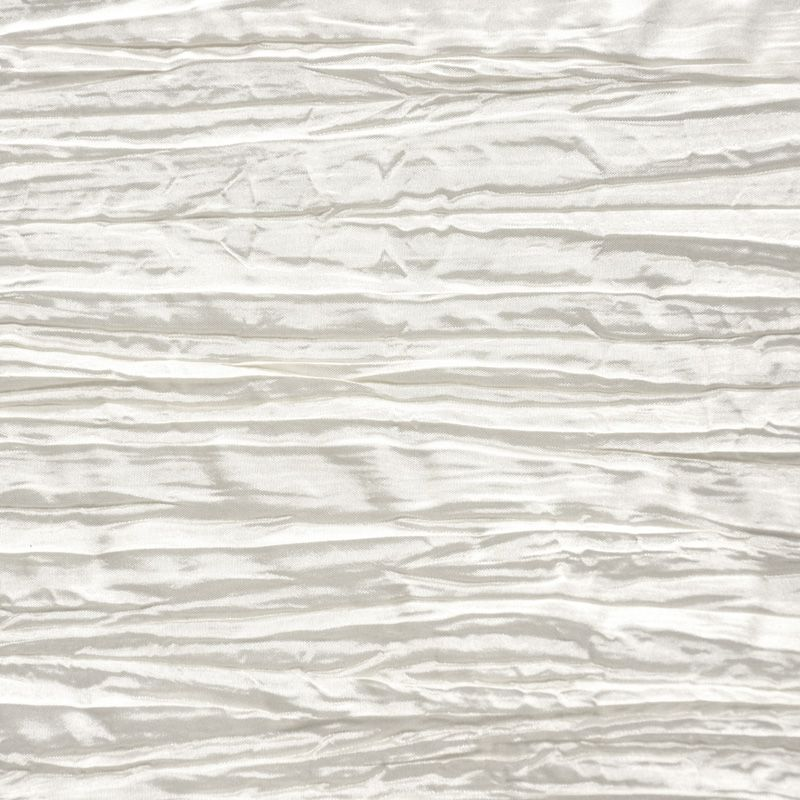 CREASED/TAF / WHITE 001 / 100% Polyester Creased Taffeta