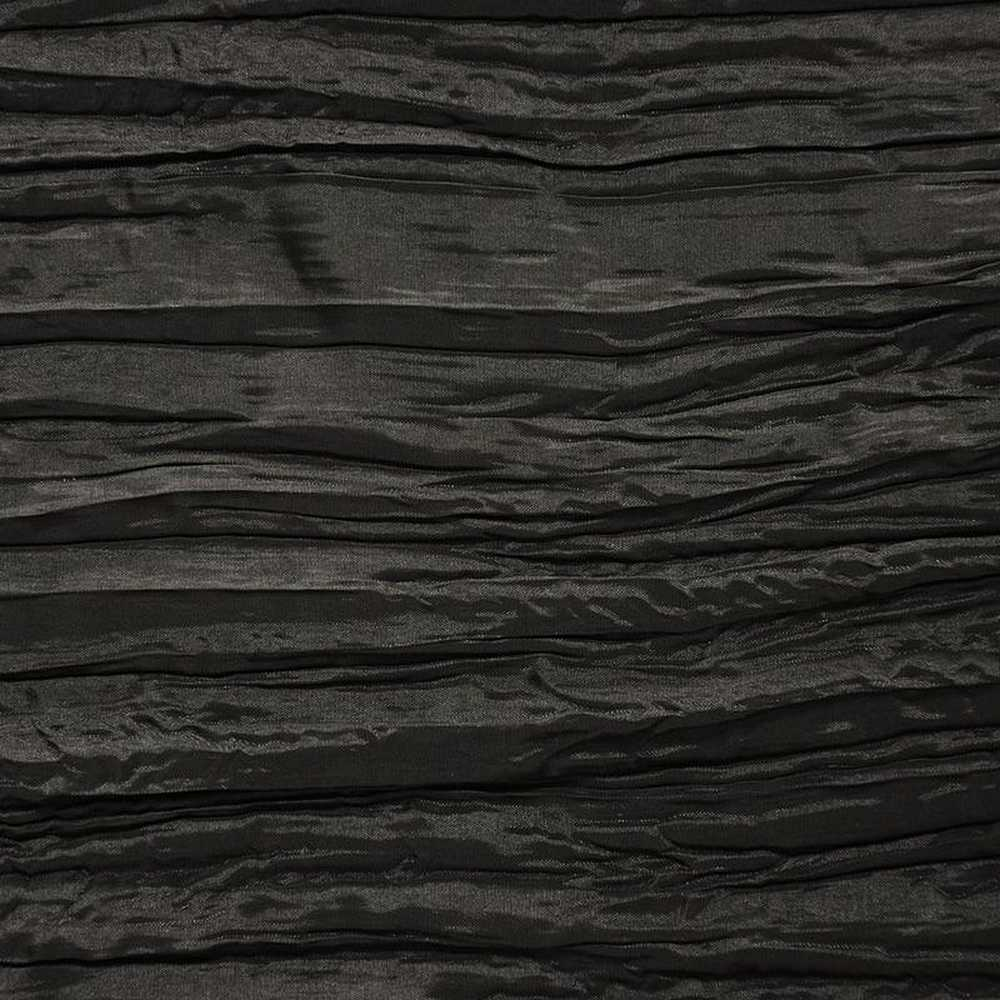 CREASED/TAF / BLACK 038 / 100% Polyester Creased Taffeta