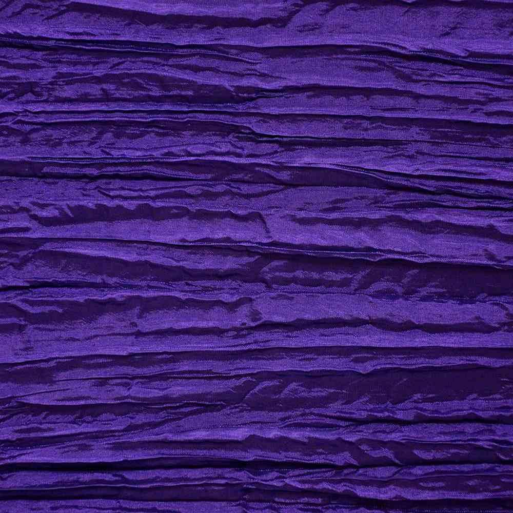 CREASED/TAF / PURPLE 053 / 100% Polyester Creased Taffeta