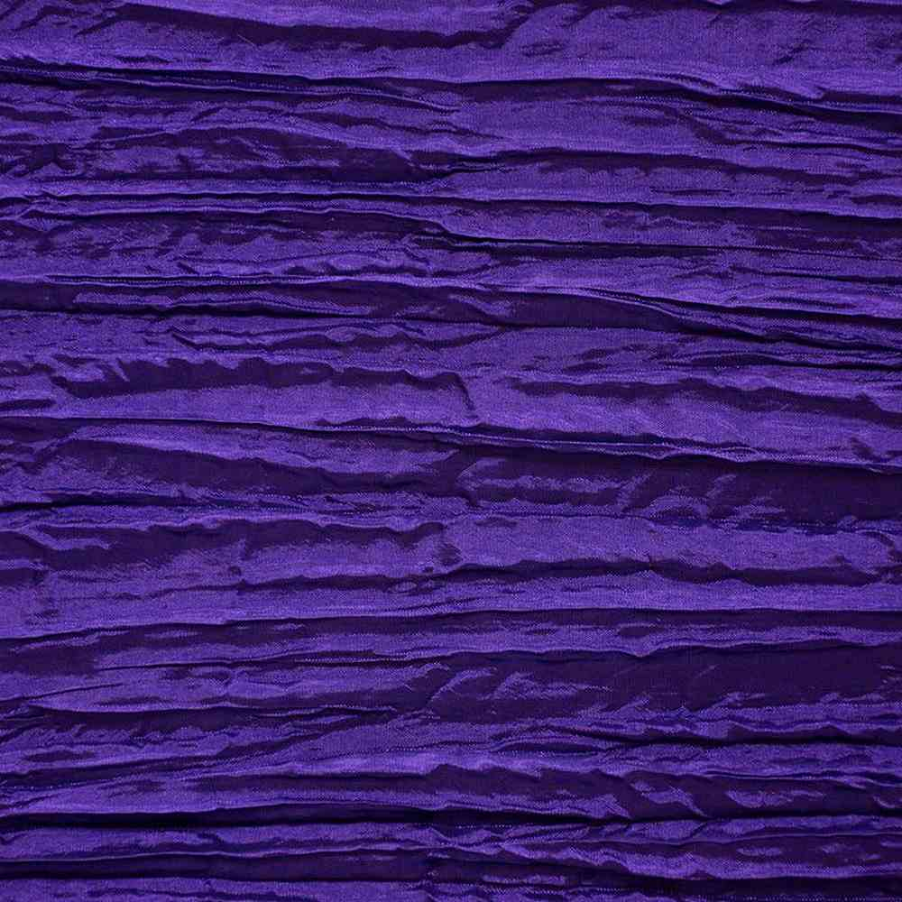 CREASED/TAF / PURPLE 053 / 100% Polyester Creased Taffeta