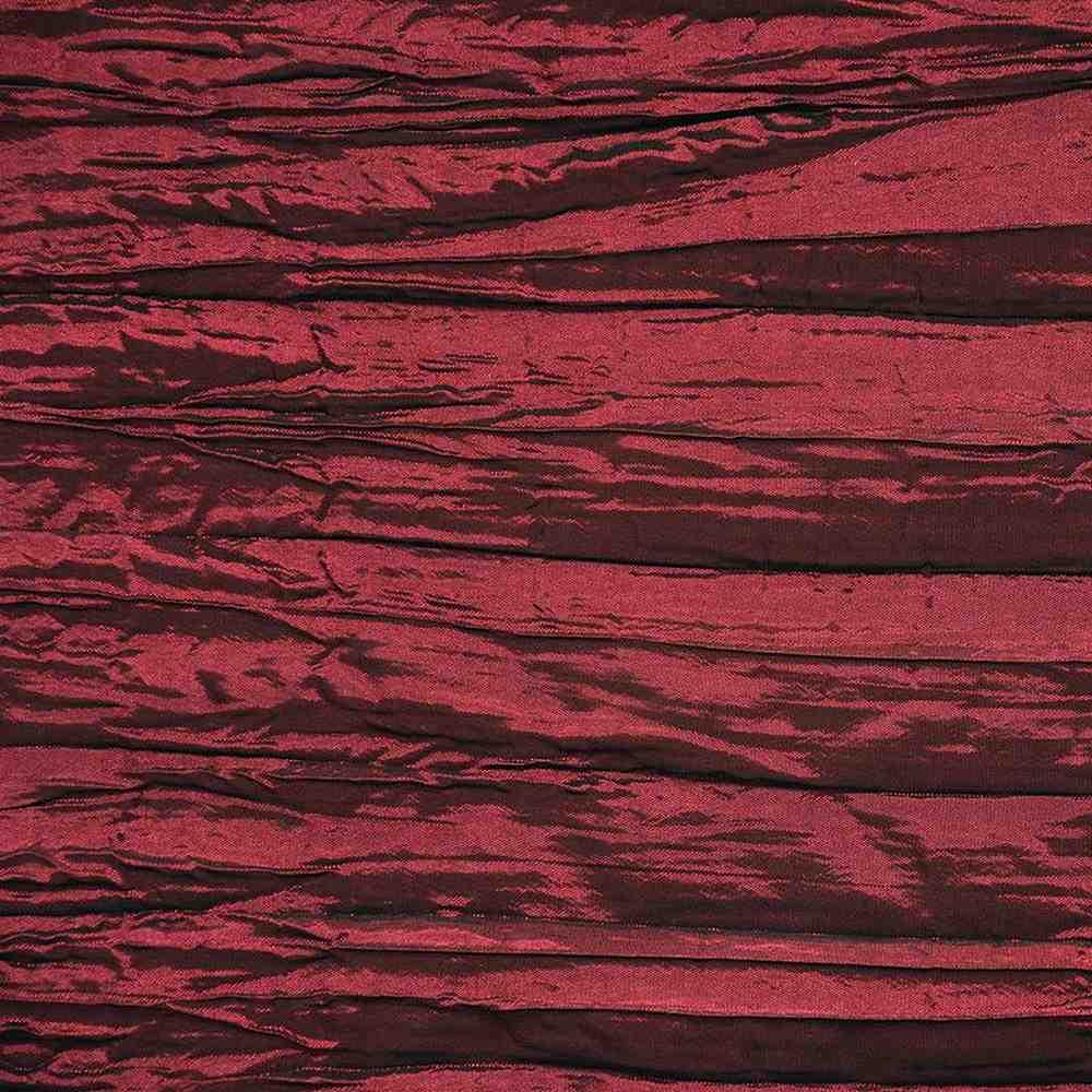 CREASED/TAF / BURGUNDY 037 / 100% Polyester Creased Taffeta