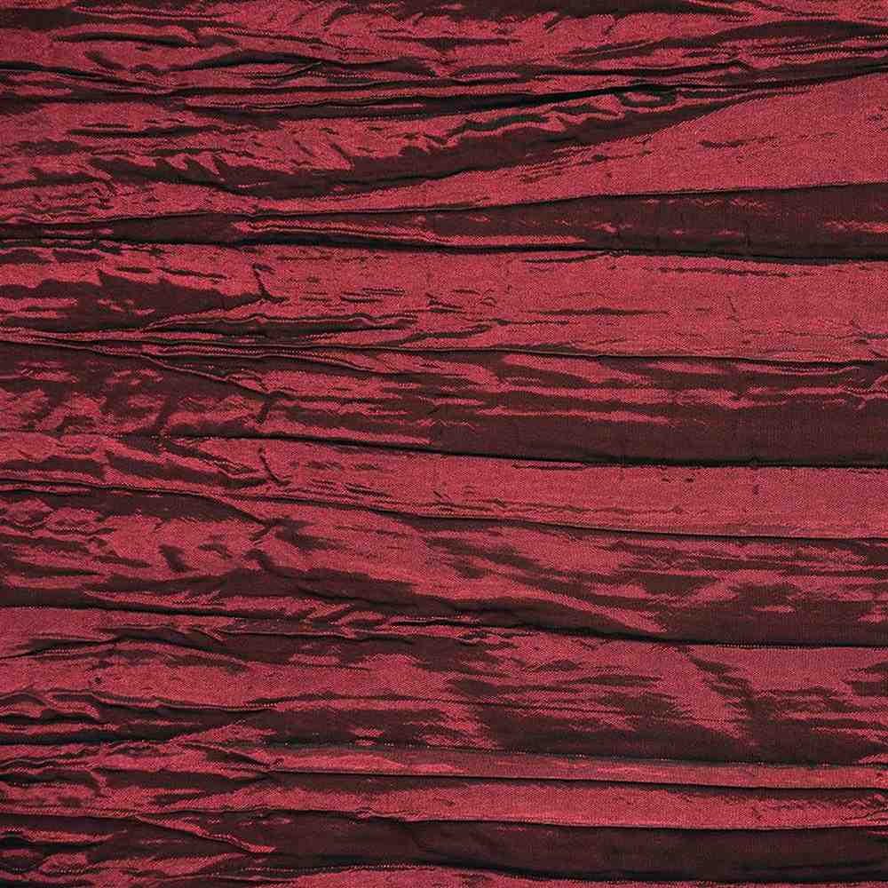 CREASED/TAF / BURGUNDY 037 / 100% Polyester Creased Taffeta