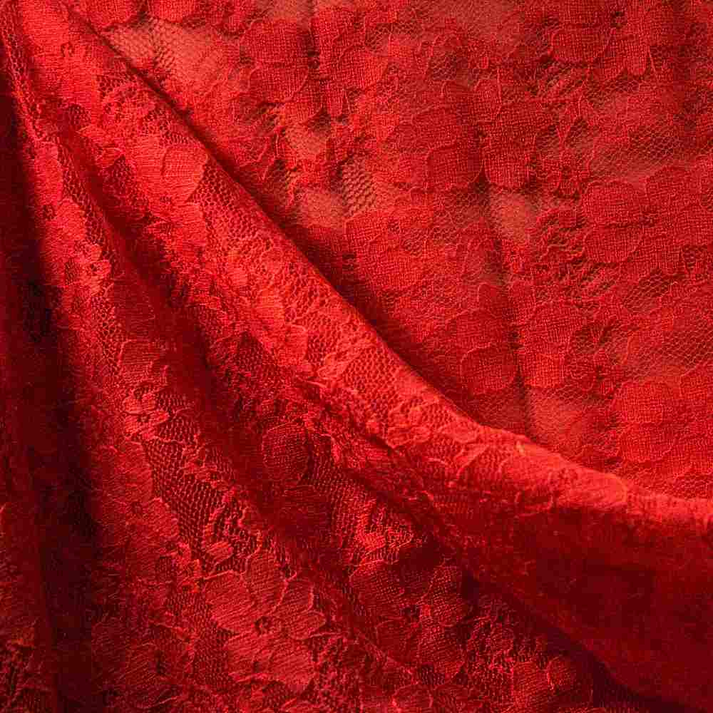 FB004 SPAN/LACE / RED 1392 / 92% NYLON 8% SPANDEX LACE