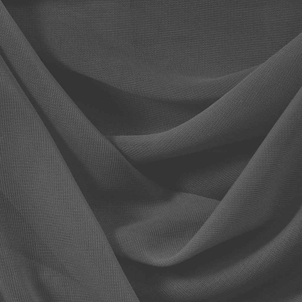 CMJ3000 / CHARCOAL 650 / 100% Polyester Chiffon Matt Jersey