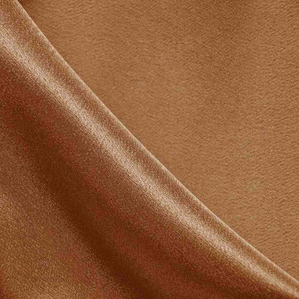 BACK CREPE / COPPER 855 / 100% Polyester Back Crepe Satin