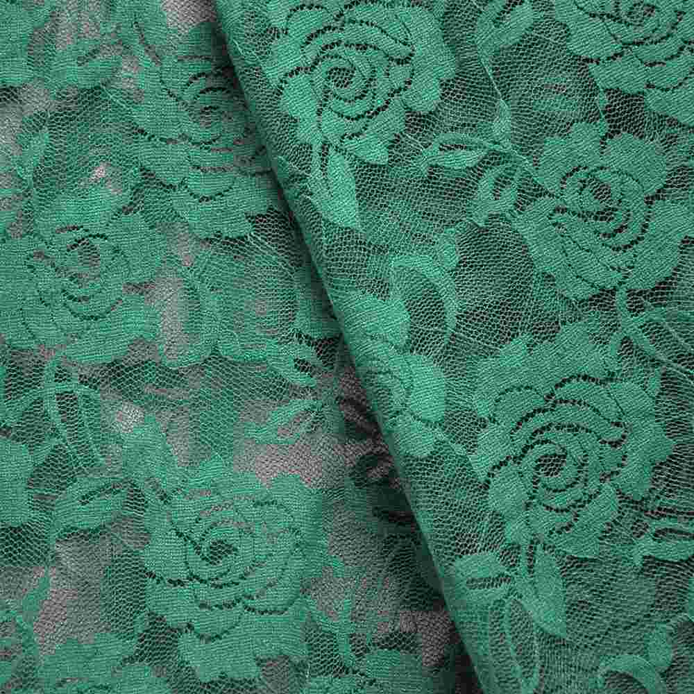 FB007 SPAN/LACE / JADE 3901 / 92% NYLON 8% SPANDEX LACE